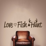 Love Fish Hunt Wall Decal